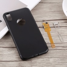 Pour iPhone X 2 en 1 double adaptateur de carte SIM + housse arrière + plateau de carte SIM + adaptateur de carte SIM