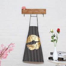 Doreenperles tablier rayé pour lèvres   Tablier de cuisine de Restaurant, taille anti-salissure, sans manches, outil de nettoyage, couleur or noir, 1 pièce
