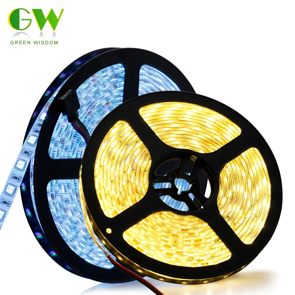 RGB RGBW LED Strip Light 5050 DC24V 300 LEDs Flexible LED Tape 60LEDs/m Waterproof Neon Ribbon for TV Backlight Home Decoration