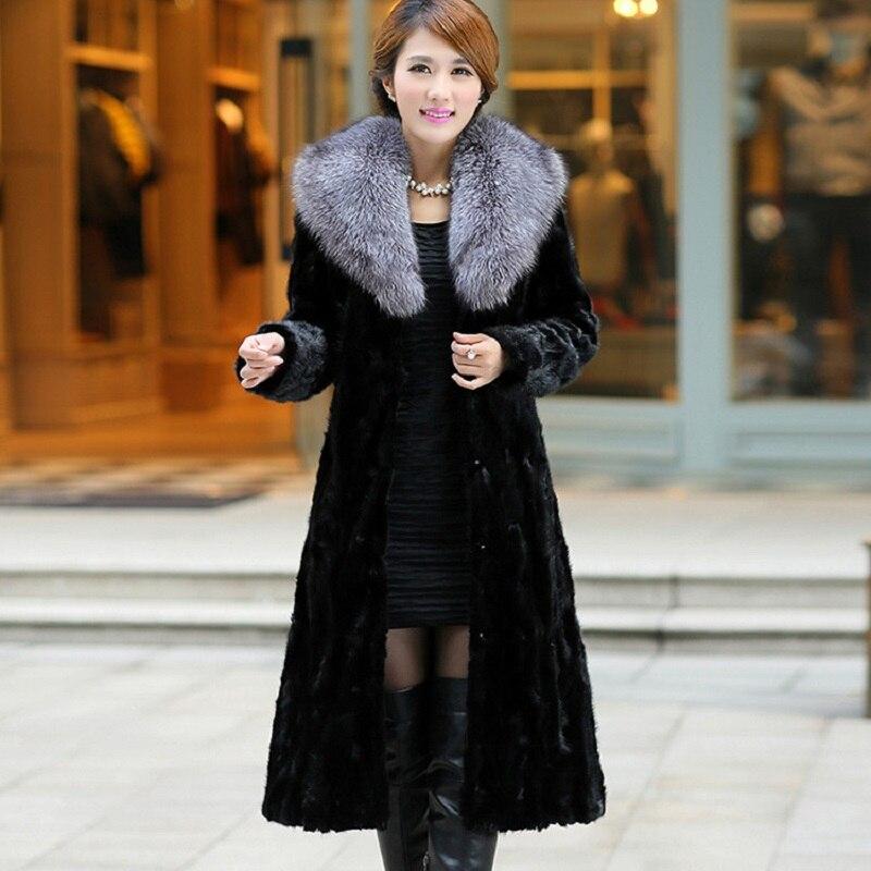 Женские пальто из искусственного меха 2021, элегантная женская верхняя одежда, Утепленные зимние длинные куртки, винтажные женские пальто, же...