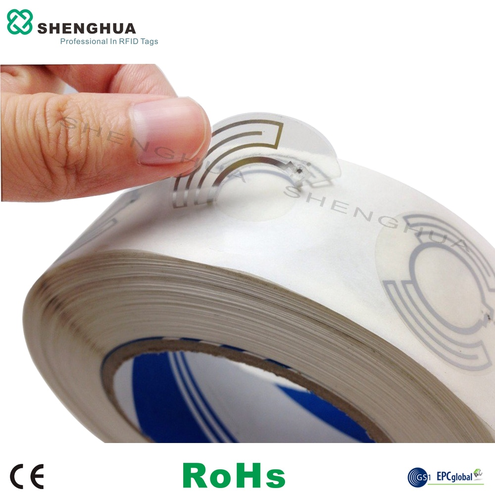 10pcs/pack UHF RFID Disc Self Adhesive Tags Ringlike Passive Smart Label Sticker for CD DVD Management