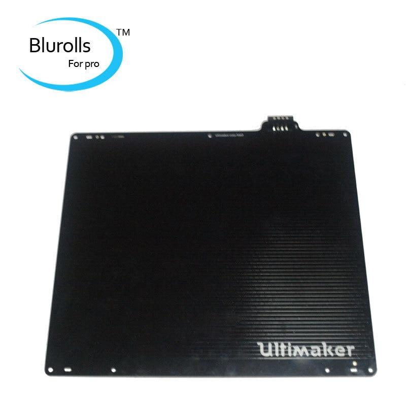 UM 2 Ultimaker 2 & 2 impresora 3d extendida DIY cama caliente con Sensor PT100B aluminio ultimaker 2 Placa construida Alemania eléctrica