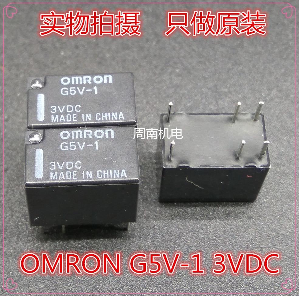 Lote frete grátis (10 peças/lote) 100% Original Novo G5V-1 3VDC 6VDC 9VDC G5V-1-3VDC G5V-1-6VDC G5V-1-9VDC 6 PINOS 1A Relé de Sinal