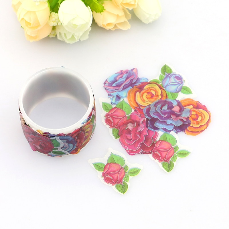 80 pçs/rolo flores washi fita decoração diy scrapbooking japonês washi fita adesiva