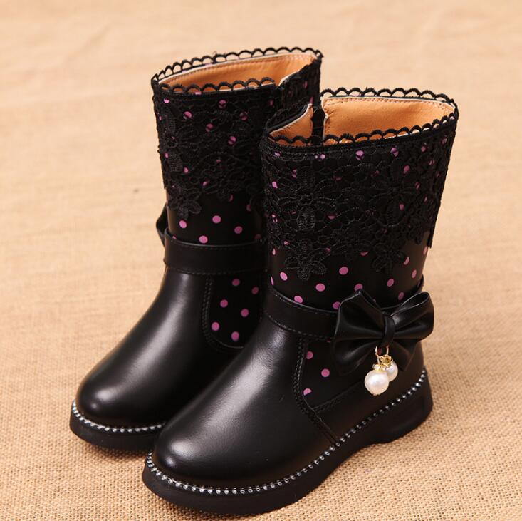 2020 Winter New Style Children Snow Boots Cowhide Girls Korean Design Boots High Quality Sport Shoes Leather Baby Boots