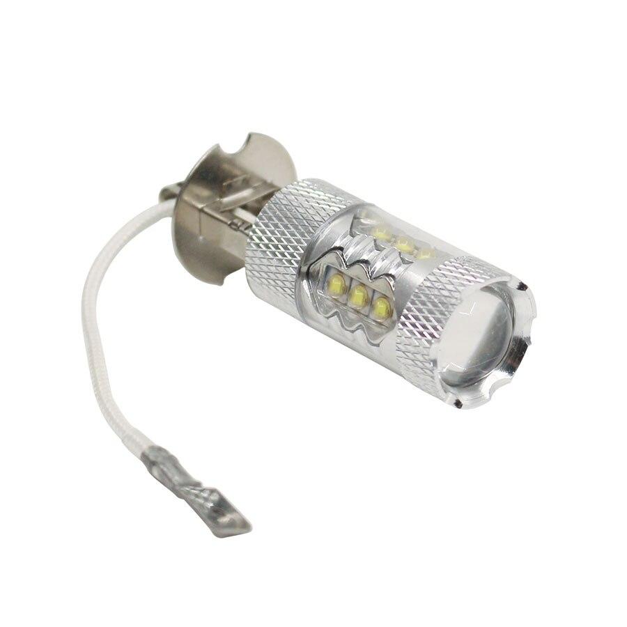 H3 светодиодная лампа для автомобиля 1 шт. Высокая мощность 80 Вт Светодиодная супер яркая белая противотуманная фара для DRL Авто дневная ходо...