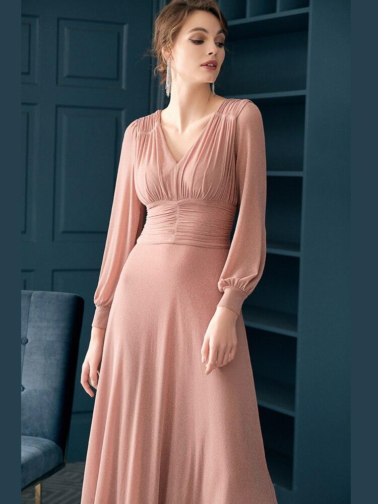 2019 Time-limited Hot Sale Plus Size Dress Summer Dresses Fashionable Elegant French Simple Lantern Sleeve Women's Clothing