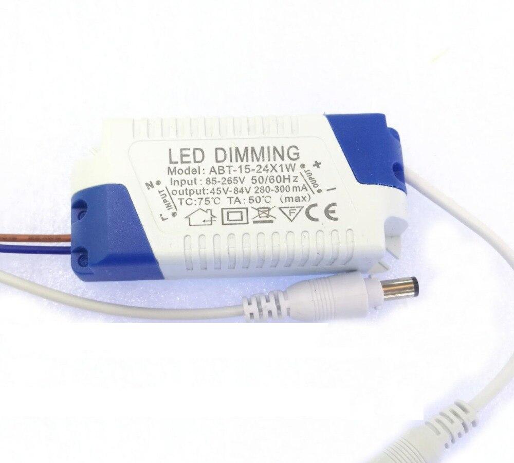 AC85-265V regulable adaptador de Controlador LED fuente de alimentación lámpara iluminación transformador salida 300mA 15-24x1W 45-84V 15W 18W 20W 21W 24W