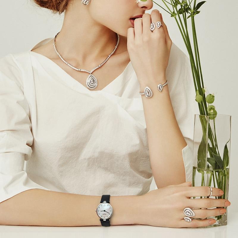 Swiss Fashion Brand AGELOCER Dress Gold Quartz Watch Women Clock Female Lady Leather Strap Wristwatch Relogio Feminino Luxury enlarge