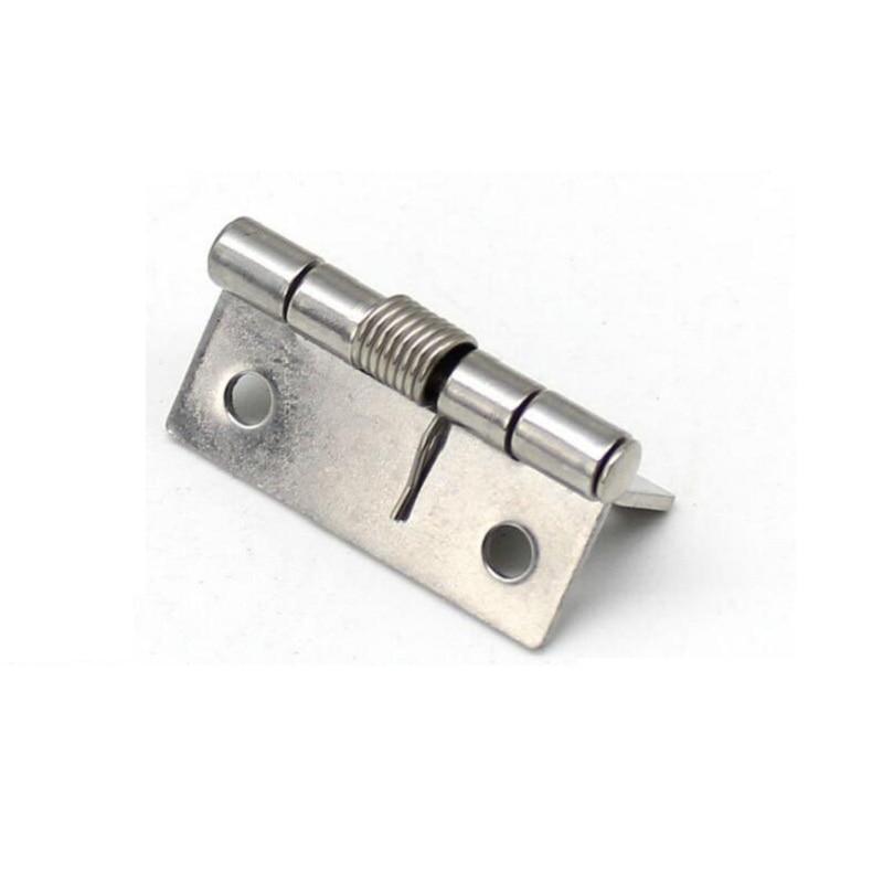 Bisagra de resorte de acero inoxidable de 1,5 pulgadas equipo industrial 38mm bisagra pequeña X10