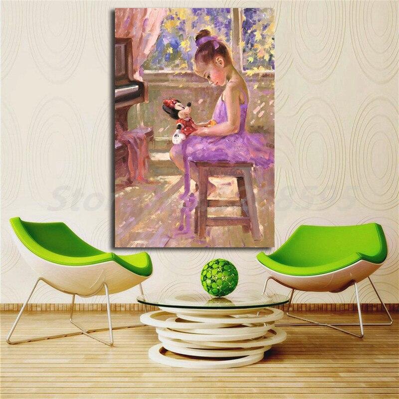 Minnie Maus Joyful Inspiration Durch Irene Sheri Leinwand Poster Drucke Wand Kunst Malerei Dekorative Bild Moderne Dekoration