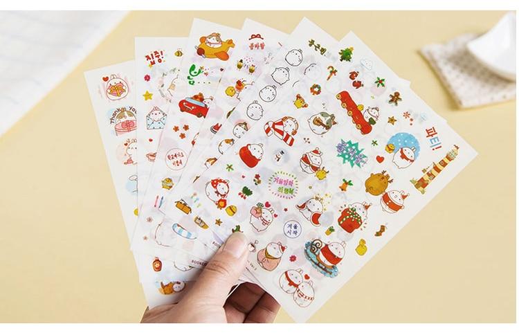 6 sheets/pack Cute Lovely Mask sticker Book Planner Mobile Sticker Rabbit Diary Scrapbook Calendar Notebook Label Decoration