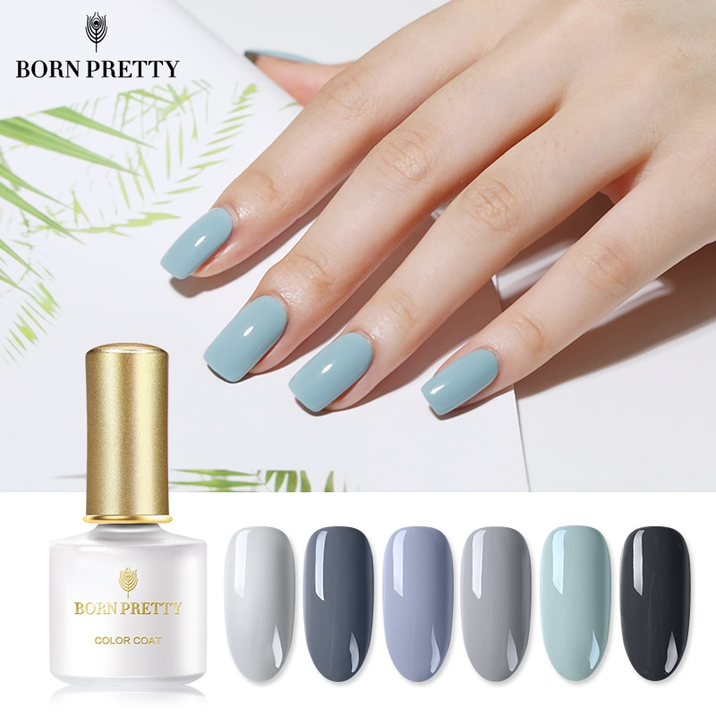 Serie BORN PRETTY Grey esmalte de uñas de Color 6ml barniz UV