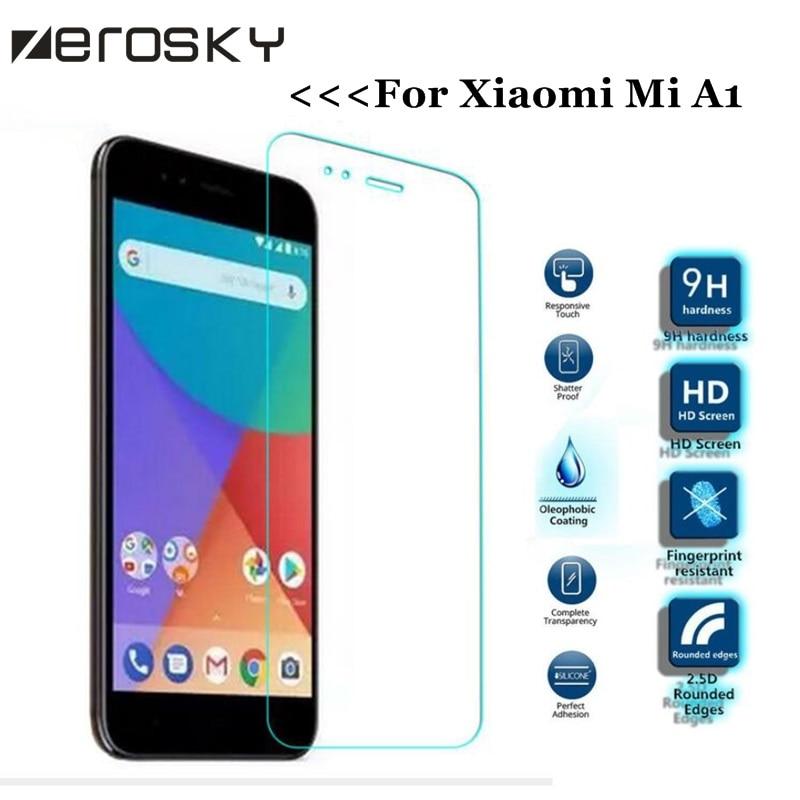 1PC 2.5D HD Screen Protector Glass For Xiaomi Mi A1 Tempered Glass For Xiaomi Mi A1 Glass For Xiaomi Mi5X mi 5x Protective Film