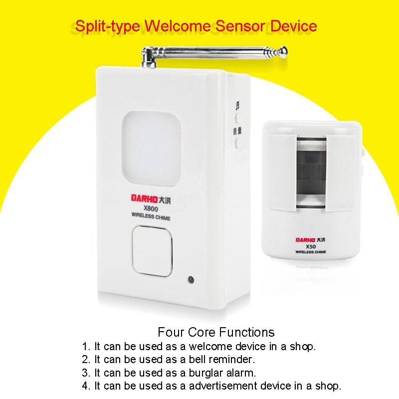 Sensor de movimiento inalámbrico por infrarrojos para puerta, sensor de movimiento con...