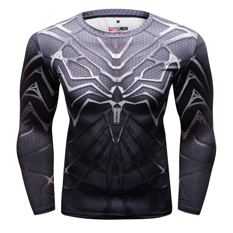 Spiderman 3D t shirts Men Compression Kurzarm T-shirts Superhero Quick Dry Tops Bodybuilding Fitness T-shirts Tees