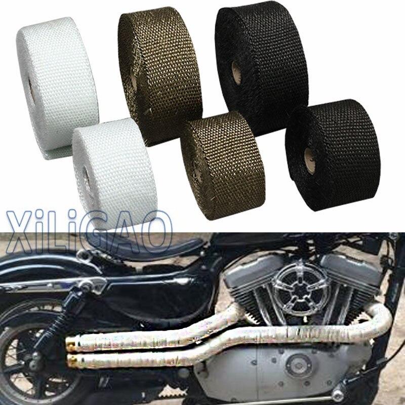 5M 10M caliente calor escape envoltorio térmico escudo cinta protectora ignífuga aislante Kit de rollo de tela para motocicleta coche FT001