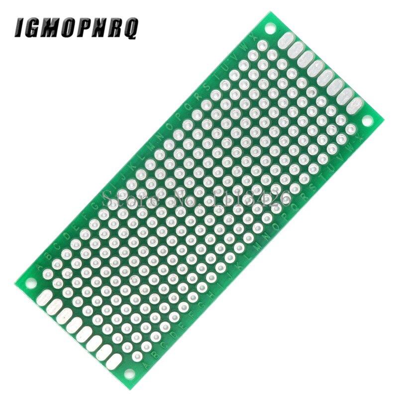 5 teile/los 3x7 cm Prototyp PCB 2 schicht 3*7cm panel Universal Board 2,54 MM Grün