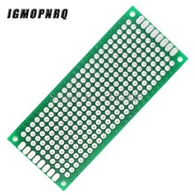 5 PCS/LOT 3x7 cm Prototype PCB 2 couche 3*7cm panneau universel panneau 2.54MM vert
