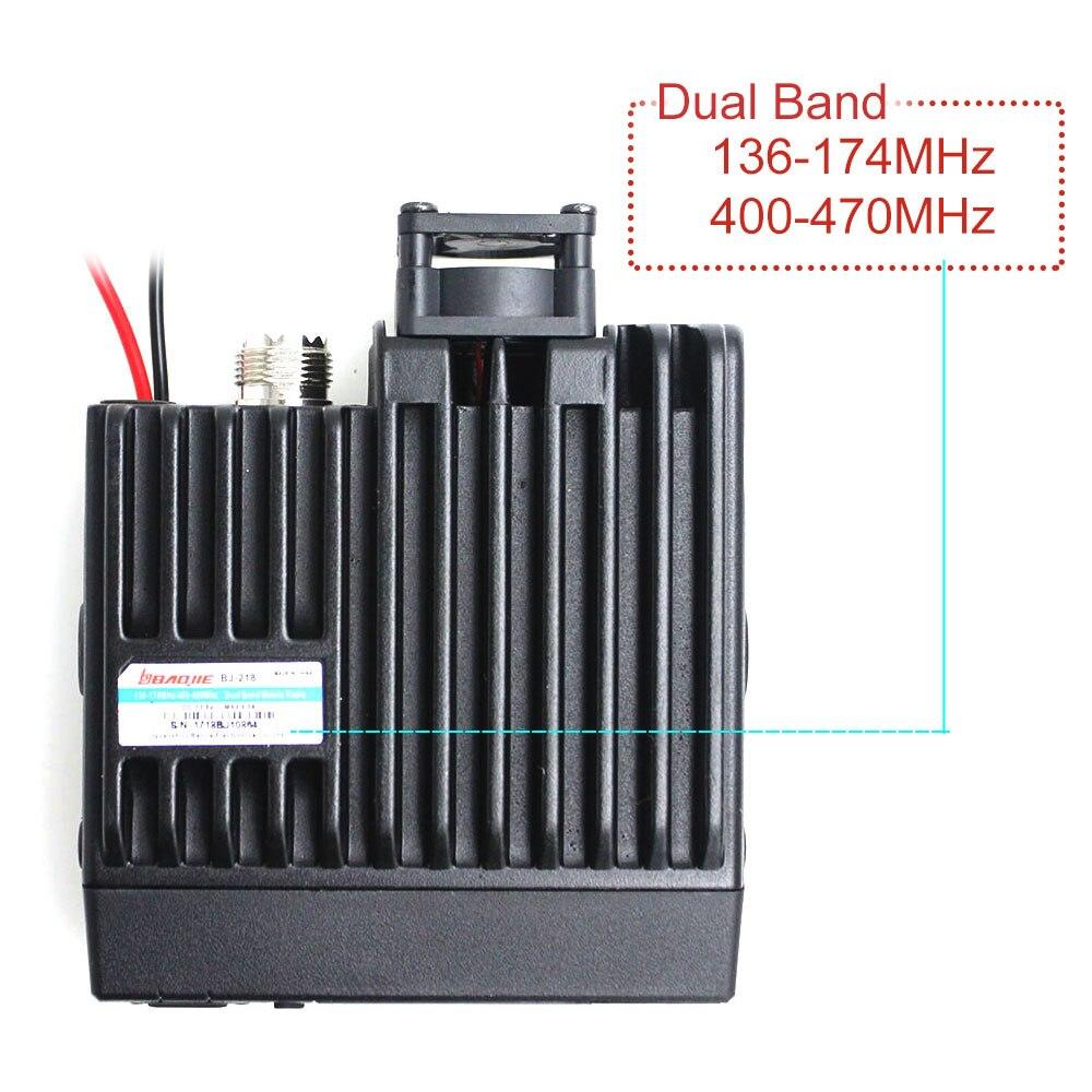 Mini Mobile Radio ZUIDID BJ-218 25W Output Power Dual Band 136-174 & 400-470MHz FM Radio BJ218 Walkie Talkie enlarge