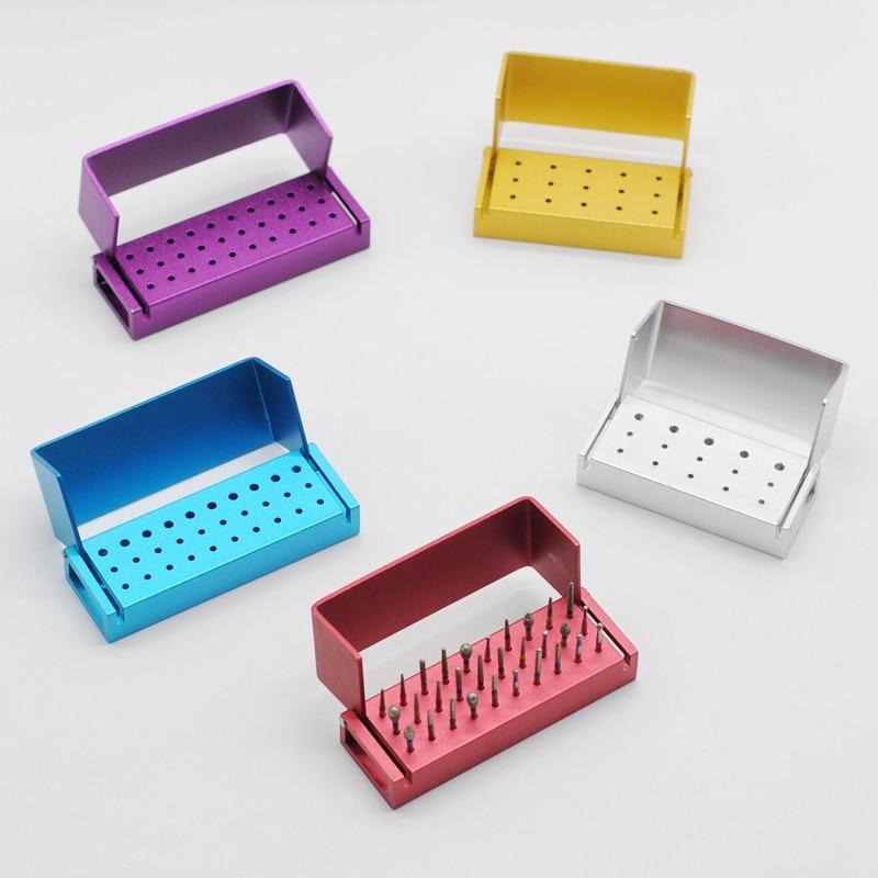 Esterilizador de soporte de desinfección Autoclavable de bloques para fresas con 30/15 agujeros para suministros de clínica Dental