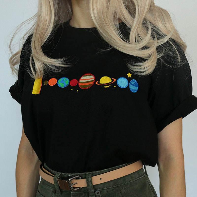 Kuakuayu HJN Stern Planet Erde T-shirt Galaxy T Hemd Frauen Raum T-shirt Lustige T Shirts China Gedruckt T-shirt Hip Hop t