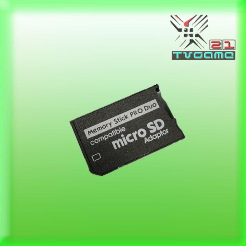 50 unids/lote sola ranura Tarjeta de lector nuevo Micro SD SDHC TF a MS Memory Stick Pro Duo lector adaptador para PSP