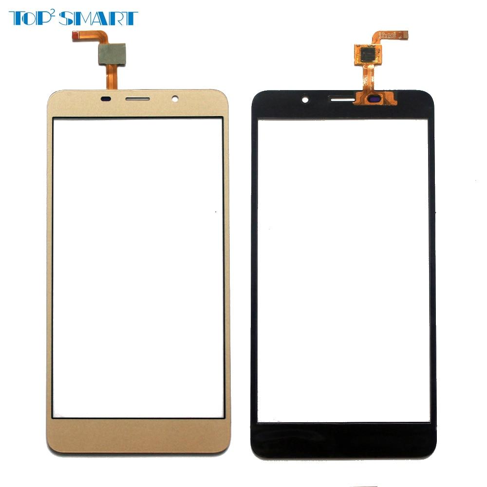 Para leagoo M8 o M8 Pro Sensor de pantalla táctil negro y dorado con piezas de reparación de Panel táctil digitalizador con regalo de Protector de pantalla
