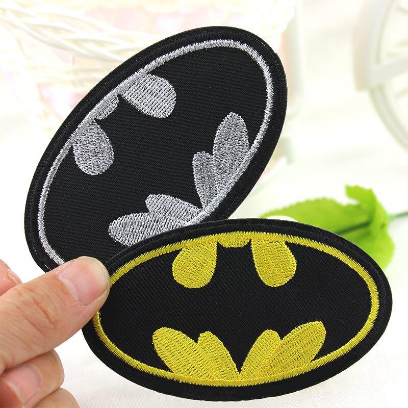 Накладки для вышивания из мультфильма «сделай сам» с логотипом «Бэтмен», Значки для одежд, наклейки для одежды, Аппликаторы, оптовая продажа
