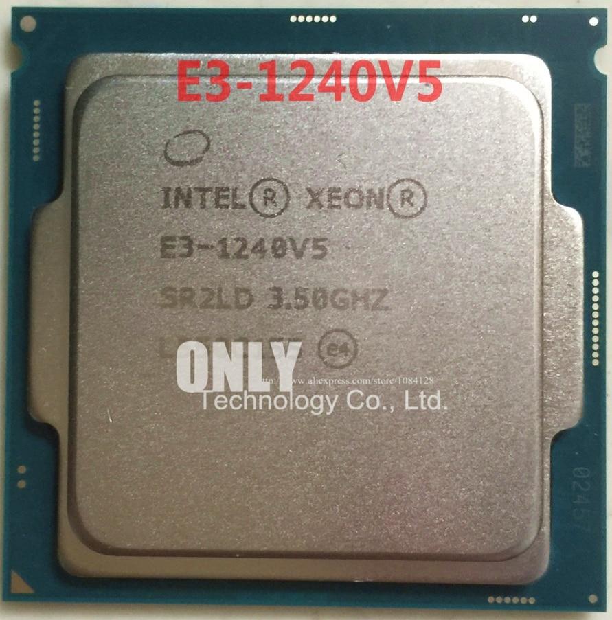 Envío Gratis INTEL E3-1240V5 3,50 GHZ Quad-Core 8M Cache E3-1240 V5 DDR4-2133... DDR3L 1600 FCLGA1151 TPD 80W 1 año de garantía