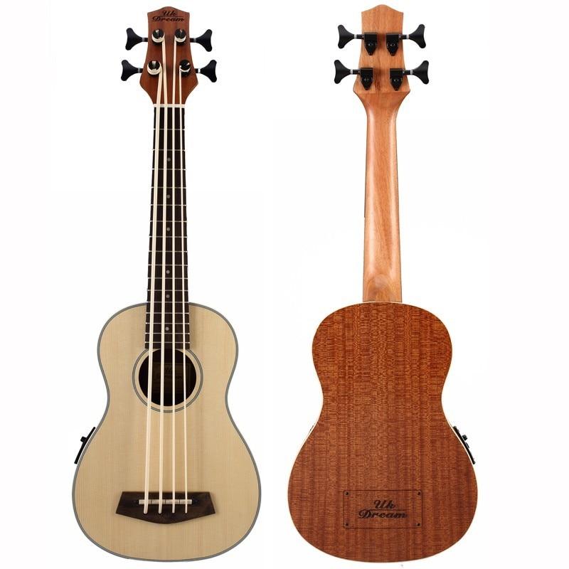 Ukelele de 30 pulgadas, Guitarra bajo eléctrica, mini instrumento Musical profesional de...