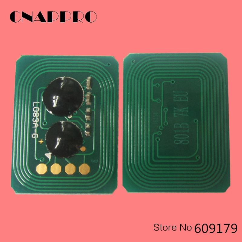 Chip de tóner de impresora 20 piezas MC860 para datos Okidata MC 860 MFP MC860MFP 44059216 44059212 44059215 44059211 Chips de cartucho de reinicio