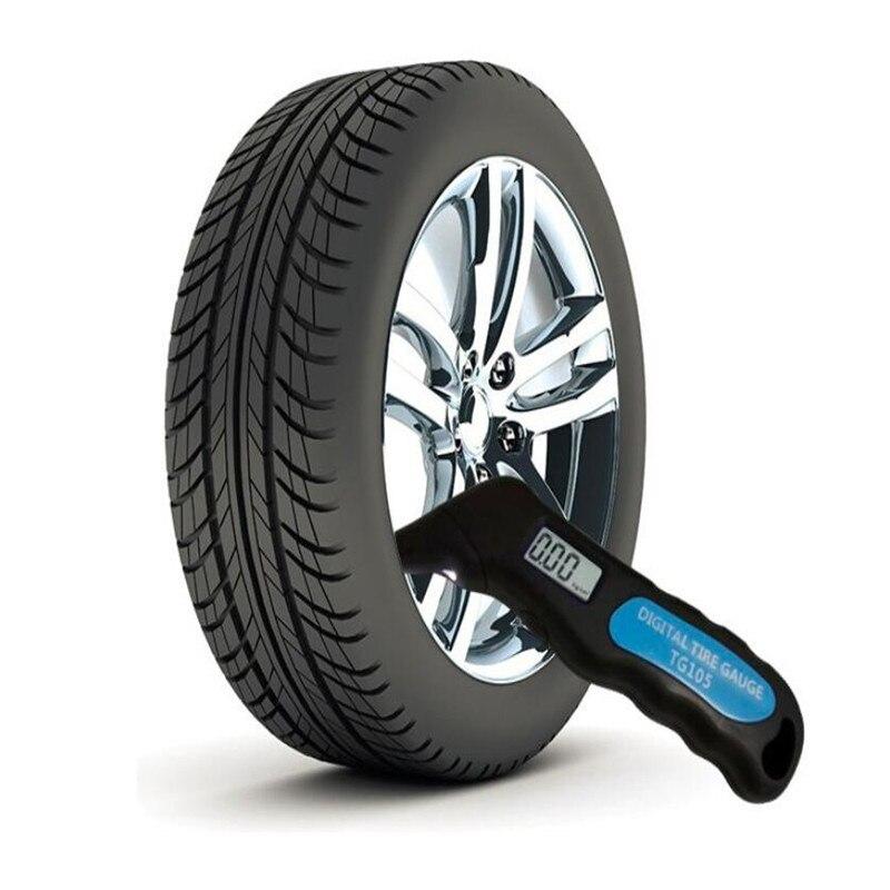 2018 TG105 Digital Car Tire Tyre Air Pressure Gauge Meter LCD Display Manometer Barometers Tester for Car Truck Motorcycle Bike