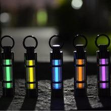Livraison gratuite lumière automatique 25 ans titane tritium porte-clés tube fluorescent sauvetage lumières durgence 5 couleurs