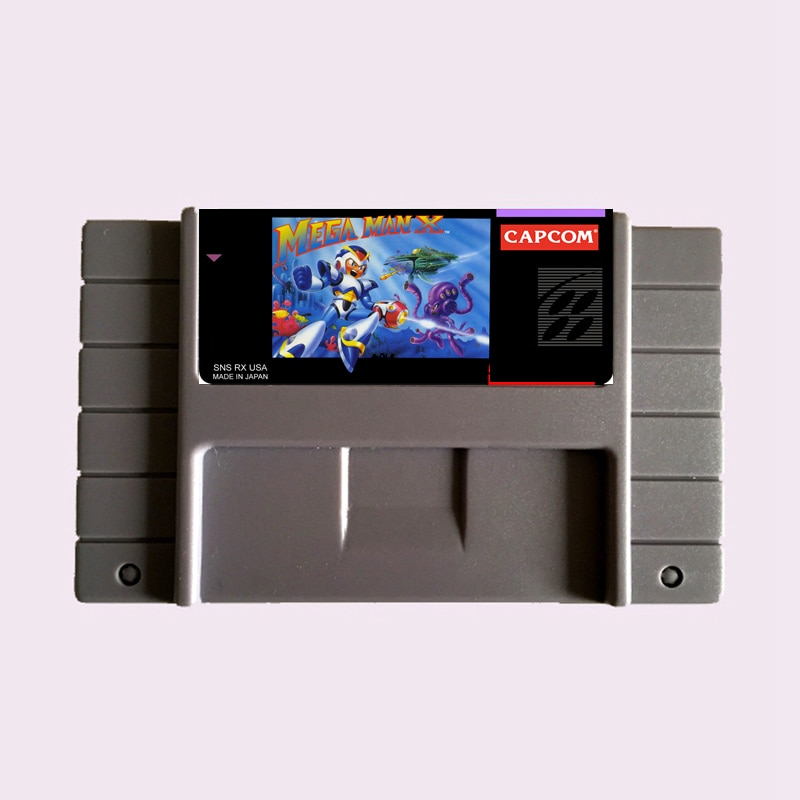 High Quality 16 Bit MEGA MAN X NTSC Big Gray Game Card For USA Version Game Player