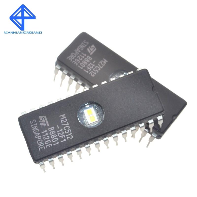 Envío gratis 10 Uds nuevo ST M27C512-12F1 27C512 DIP-28 circuito integrado EPROM CHIPS conducir IC
