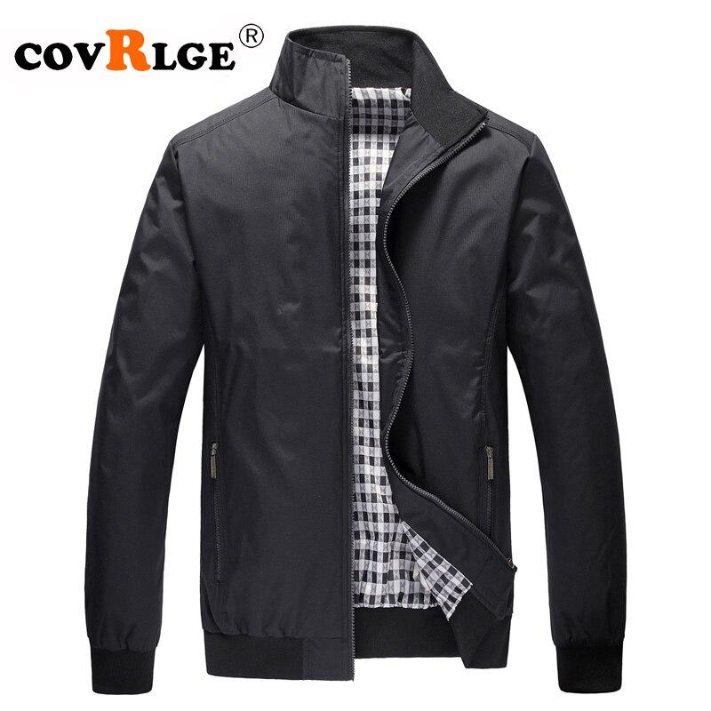 Covrlge Mens Jackets Plus Size 3XL 2019 Mens New Casual Jacket High Quality Spring Regular Slim Jacket Coat Wholesale MWJ143