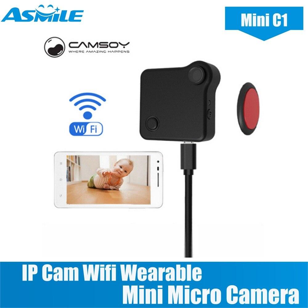 C1 Mini cámara HD 720P CAMSOY IP Cam Wifi usable Mini Micro Cámara movimiento Sensor bicicleta cuerpo cámara con Clip magnético Mini DV