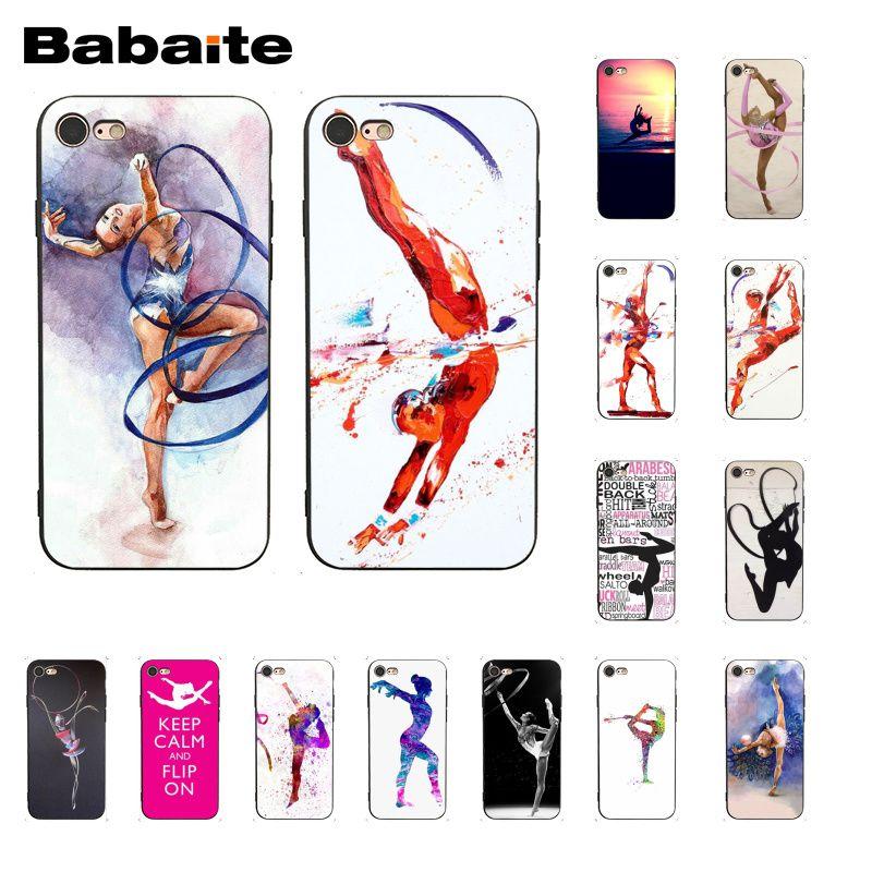 Babaite pintura Color cinta gimnasia movimiento funda para teléfono para iphone 11 Pro 11Pro Max 8 7 6 6S Plus X XS X MAX 5 5S SE XR