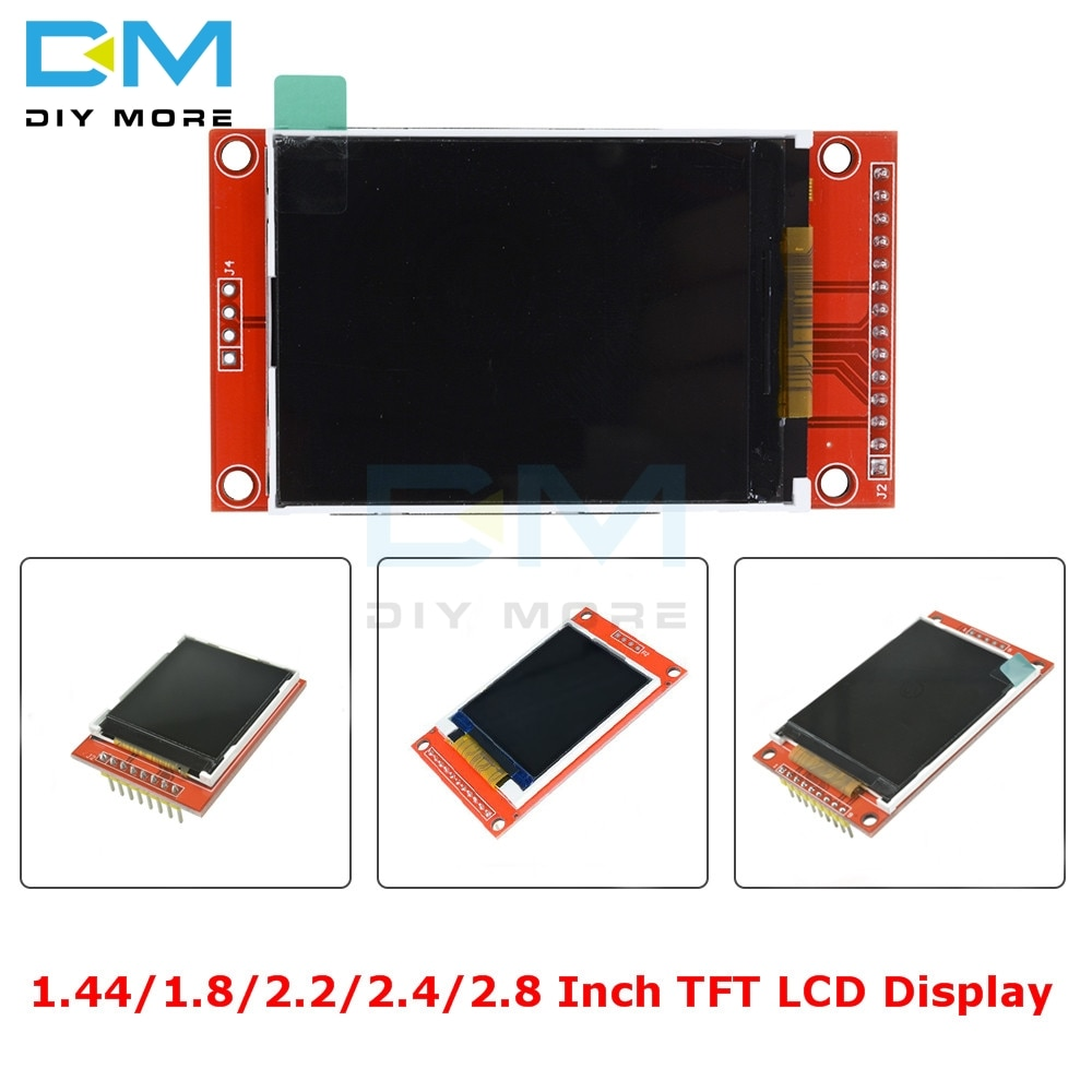 1 8 128x160 spi color tft lcd display screen module st7735s chip power supply 1.44/1.8/2.2/2.4/2.8 Inch TFT Color Screen LCD Display Module 128*128 240*320 Micro SD ST7735S ILI9341 ILI9225 with Touch