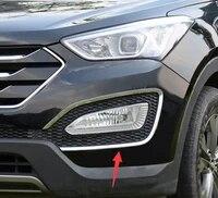 accessories fit for 2013 2014 2015 2016 for hyundai santa fe sport ix45 front fog light chrome cover trim molding