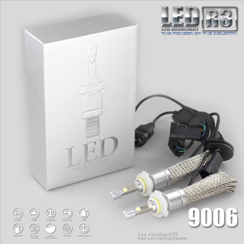 R3 CREE Corey XHP50 Bead Automotive LED Headlamp  Far and Near Light Braided Bag Copper Heat Dissipation H7