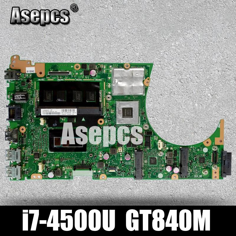 Placa base de ordenador portátil Asepcs S551LN para For Asus S551LN S551LB S551L R553L S551 placa base original de prueba 4G RAM I7-4500U GT840M