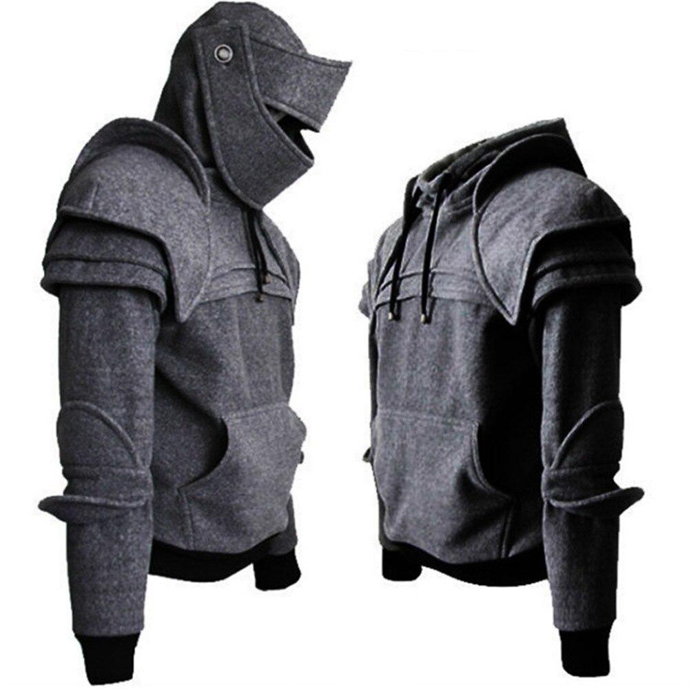 Мужской винтажный костюм воина, маска рыцаря, костюм для косплея