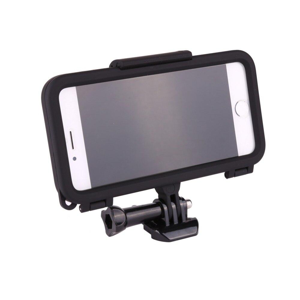 Deportes extremos carcasa para iPhone 6 6s plus 7 8 Plus X con lente gran angular para GoPro accesorios adaptador ciclismo/Esquí/escalada