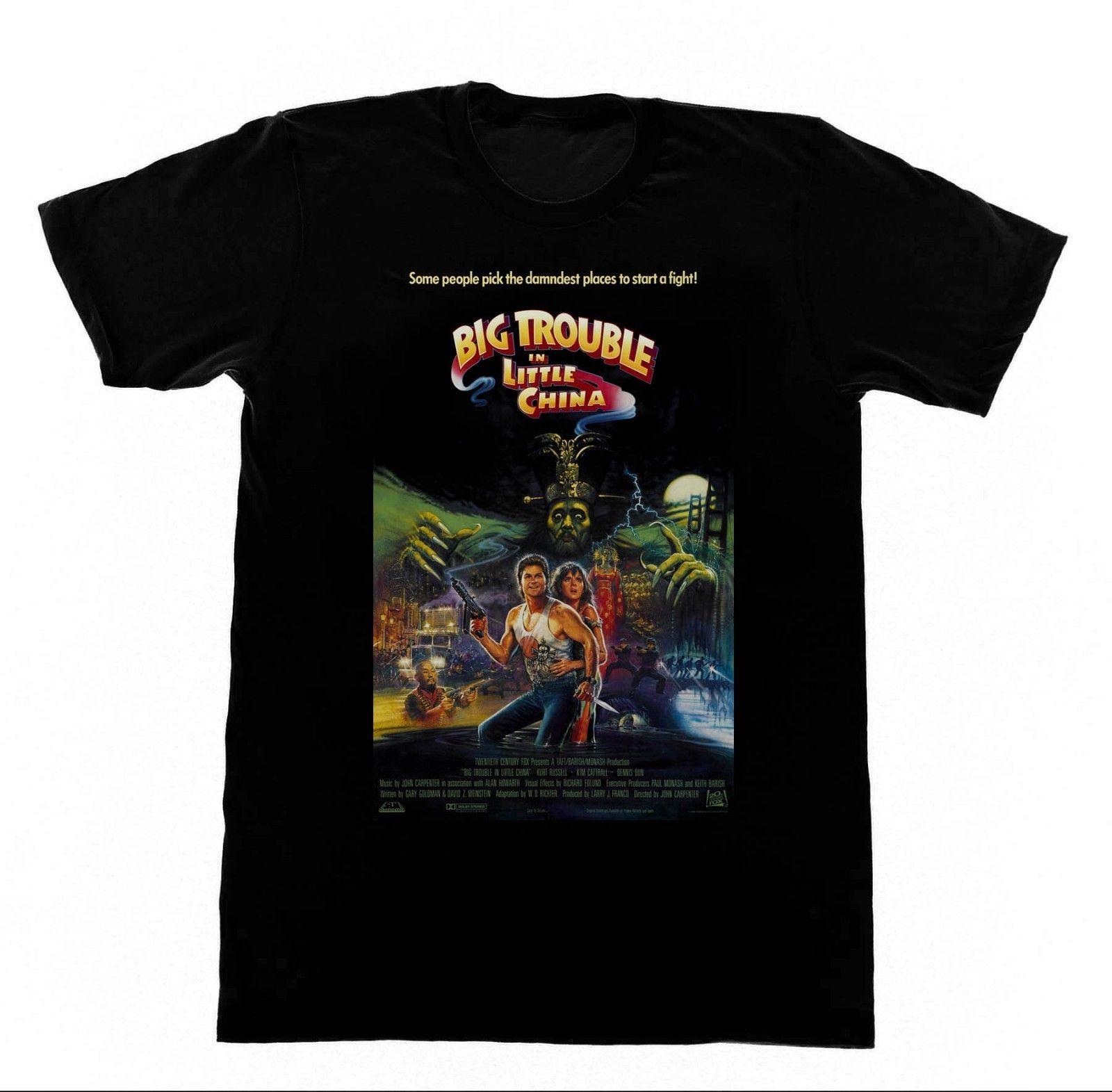 Grandes problemas Inittle China camisa T camisa 83 camisa Kurt Russel-John Carpenter estilo Popular hombre Camiseta Tee Top