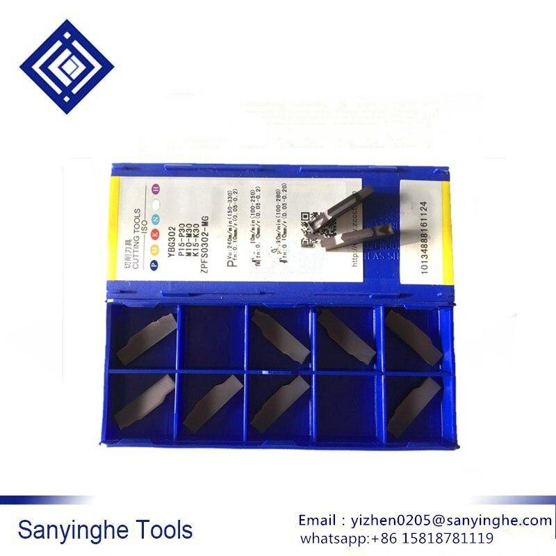 ZPFS0302-MG YBG302 cnc hoja cnc insertos de torneado de carburo de separación y ranurado insertos envío gratis de alta calidad (10 unids/lote)