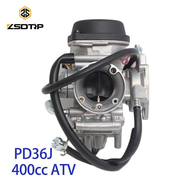 Caja de carburador de vacío ZSDTRP PD36J de 36mm para kawasaki suzuki 400 cc1995-2010 universal otros 300cc a 500cc motor de carreras UTV ATV