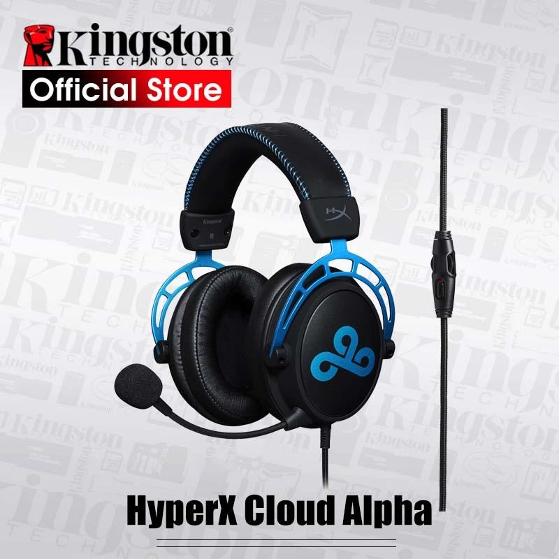 Kingston HyperX Cloud Alpha Cloud9 e-sports-auriculares con micrófono para videojuegos, auriculares para PC, PS4, Xbox y móvil
