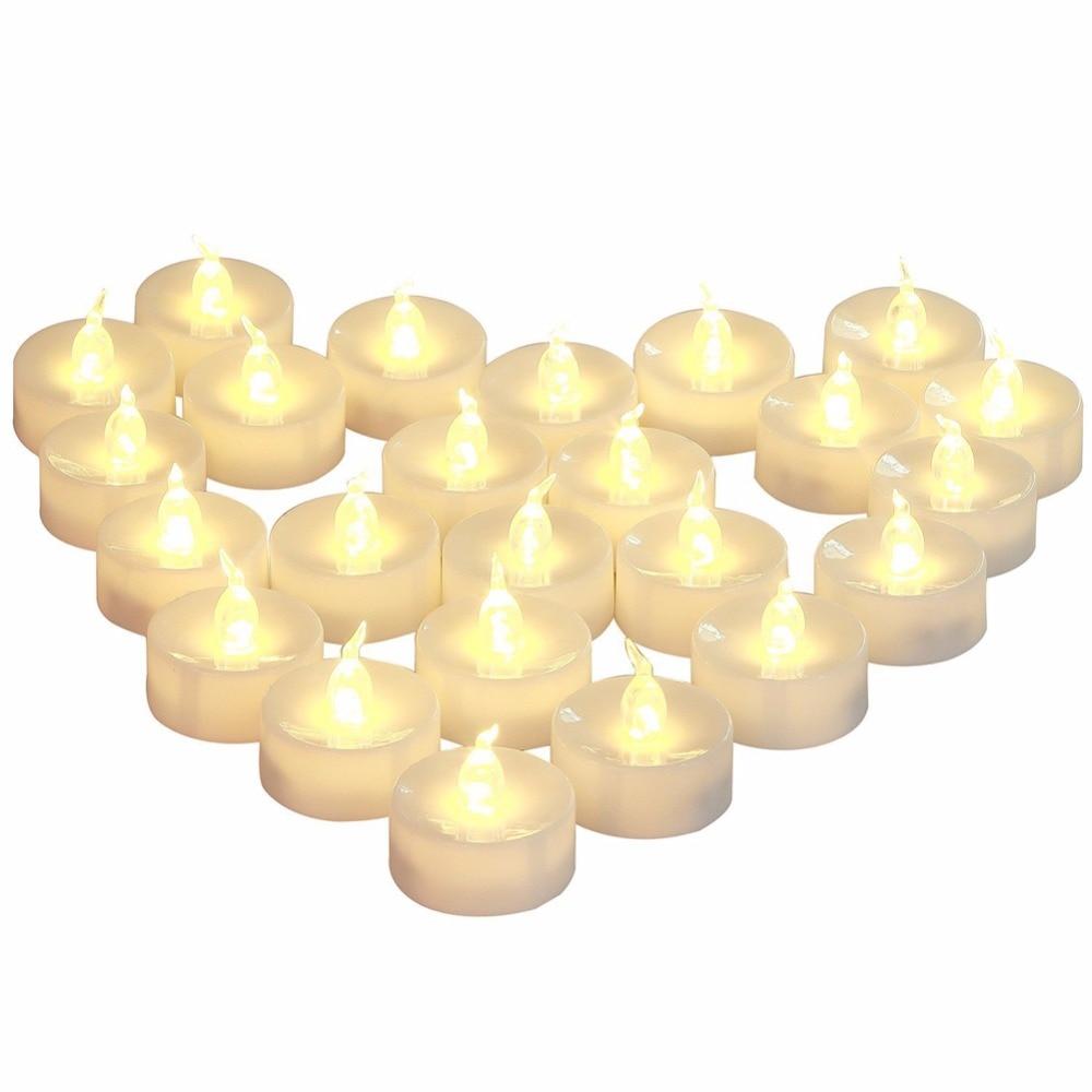 Velas LED con temporizador, 3 unidades, aniversario de luz parpadeante en amarillo...